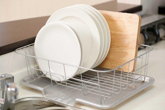 洗い終わった食器