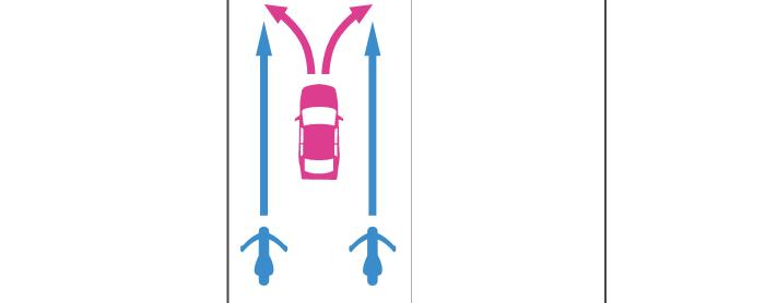 進路変更する四輪自動車と後続で直進する単車の事故