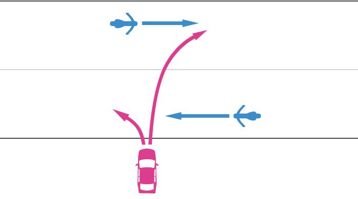 道路外から道路に入る四輪自動車と道路を直進中の単車の事故