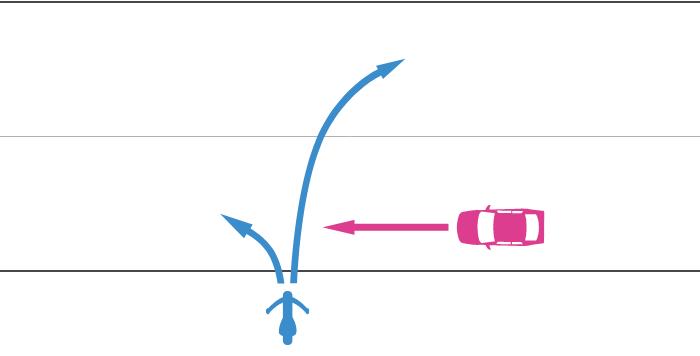 道路を直進中の四輪自動車と、その左側から道路に右折または左折して入ってきた単車の事故